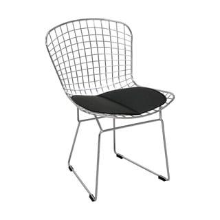 Mod Made Chrome Faux Leather Modern Chair