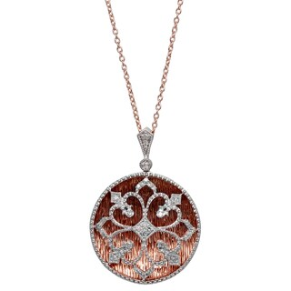 Sterling Silver 1/5ct TDW Diamond Round Shaped Pendant