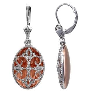 Sterling Silver 1/5ct TDW Diamond Oval Shaped Earrings (H-I, I2-I3)