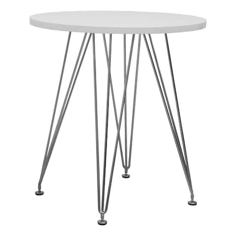 Mod Made Paris Tower Round Dining Nook Table with Chrome Base