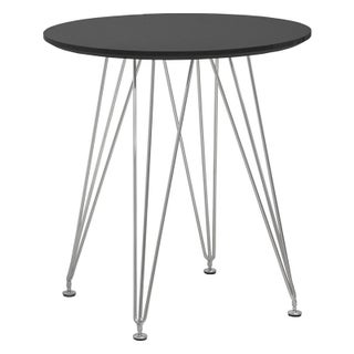 Mod Made Paris Tower Round Dining Table with Chrome Base (2 options available)