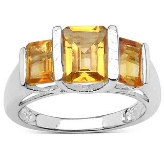 Olivia Leone 2.70 Carat Genuine Citrine Sterling Silver Ring