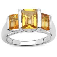 Olivia Leone 2.70 Carat Genuine Citrine Sterling Silver Ring