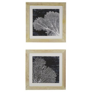 By the Beach Matted Framed Giclee Print Wall Art with Glass (Set of 2)