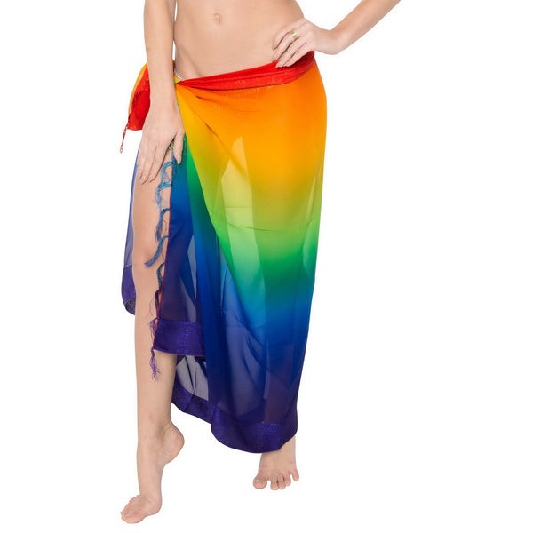 4e44e048fb970 Shop La Leela Bikini Cover up Sarong Beachwear Swimsuit Swimwear Wrap Pareo  Cardigan - Free Shipping On Orders Over $45 - Overstock - 9981882