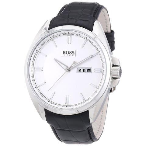 Hugo Boss Men's 1512875 Classic Round Black Leather Strap Watch