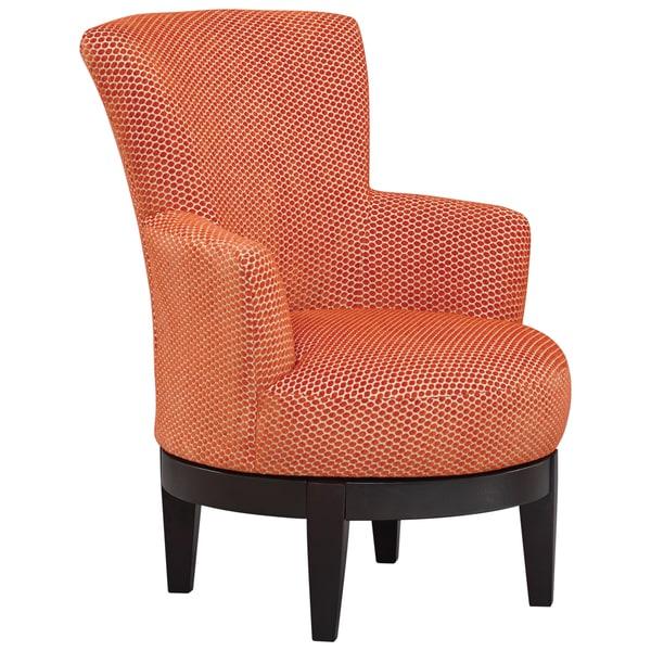 Shop Art Van Justine Orange Swivel Chair Free Shipping