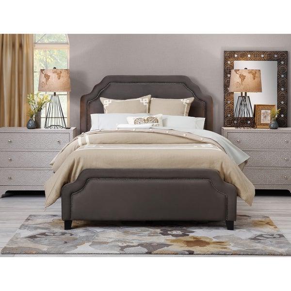 Shop Art Van Carlyle Queen Pewter Upholstered Bed