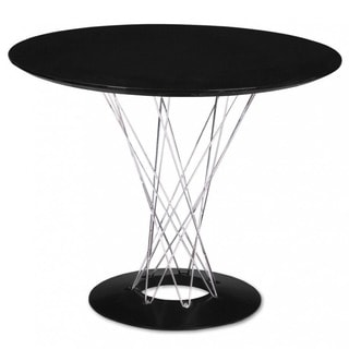 Mod Made Contemporary Black/ Chrome Twist Dining Table