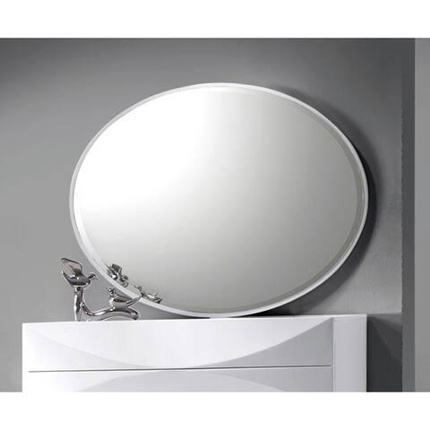 Somette Bordeaux Gloss White Accent Mirror