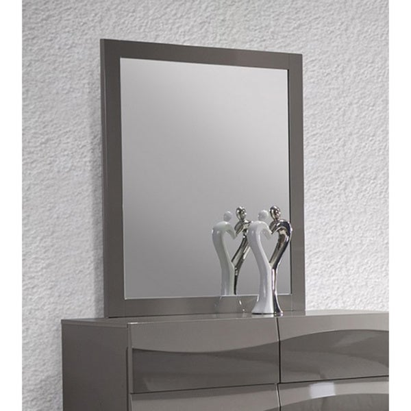 Somette Delvin Grey Glossy Accent Mirror - A/N