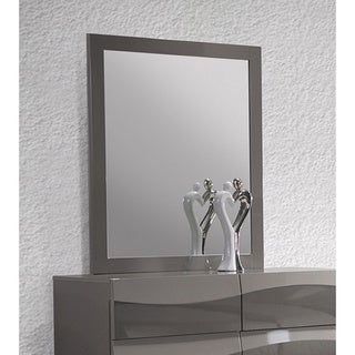 Delvin Grey Glossy Accent Mirror