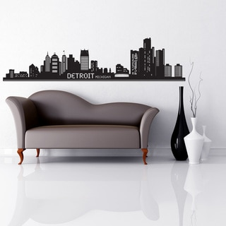Detroit Skyline wall decal