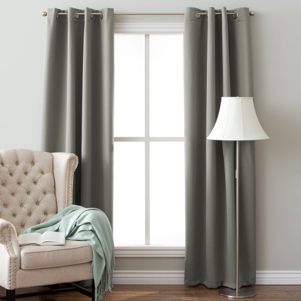 Arlo Blinds Grommet Blackout Curtains 64 Inch Height Panel Pair Total Width 104
