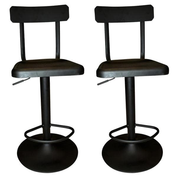 Stupendous Shop Haines Adjustable Industrial Style Metal Black Stool Squirreltailoven Fun Painted Chair Ideas Images Squirreltailovenorg