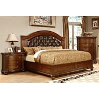 Furniture of America Vayne II 2-Piece Traditional Cherry Bed and Nightstand Set