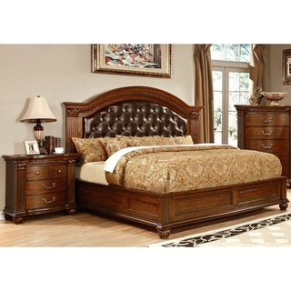 Furniture of America Wamp Traditional Cherry 2-piece Bedroom Set