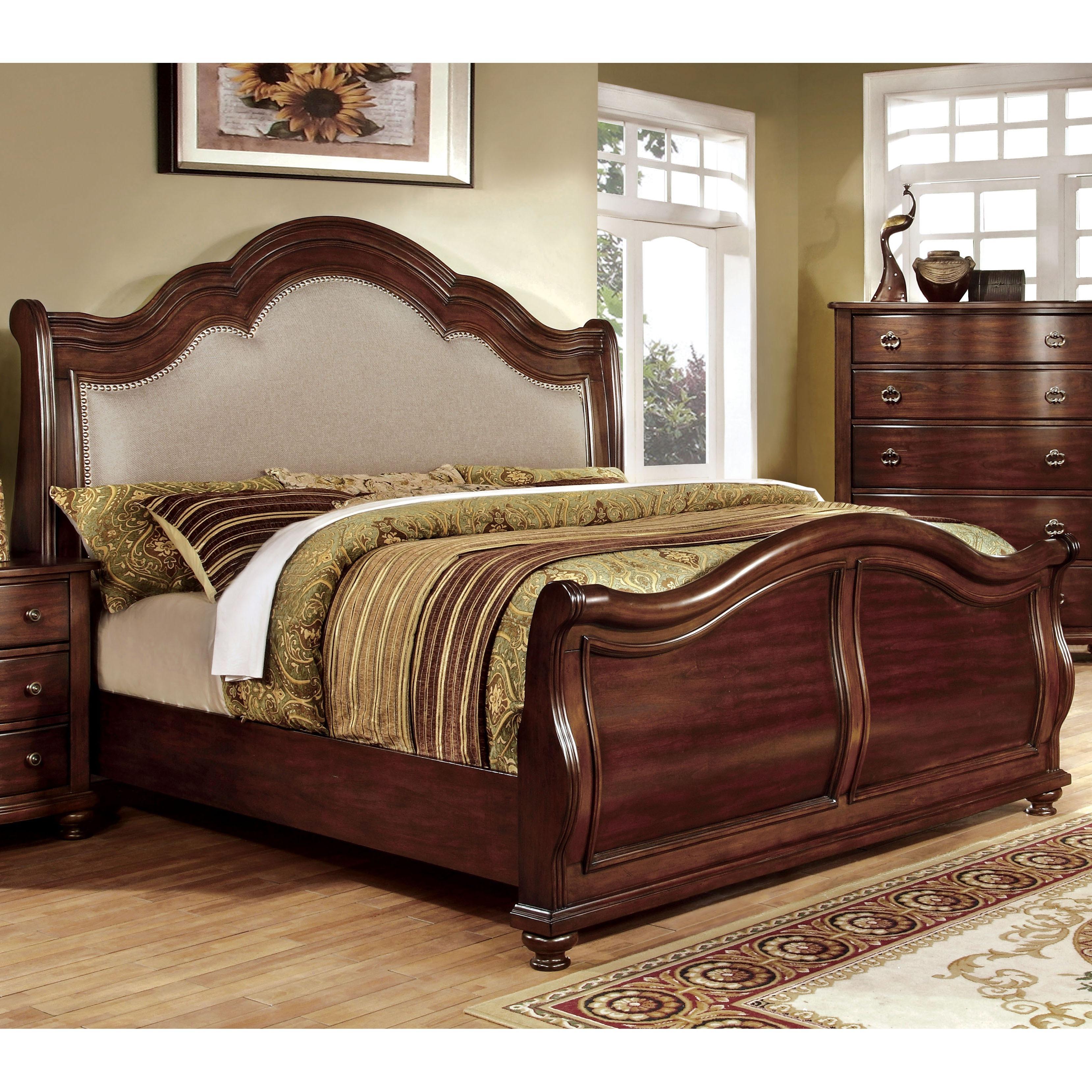 Furniture of America Ceres II Brown Cherry Platform Bed (...