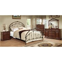 Furniture of America Aurielle Brushed Bronze Metal Platform Bed