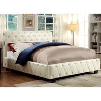 Silver Orchid Brenon Ivory Leatherette Platform Bed with Bluetooth Speakers