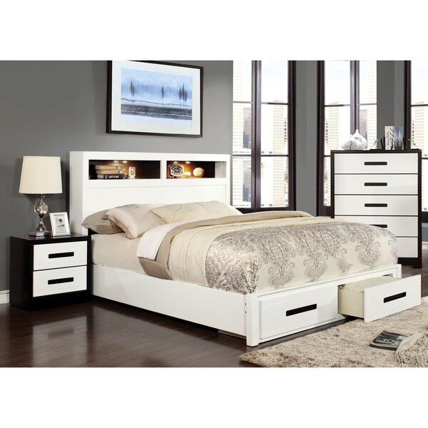 modern bedroom sets with storage shop furniture of america seleness ii modern 2 duo 19238