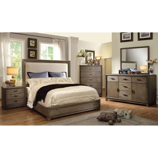 Furniture Of America Arian Rustic 4 Piece Natural Ash Bedroom Set