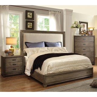 furniture of america arian rustic 3 piece natural ash bedroom set