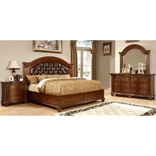 Furniture of America Wamp Traditional Cherry 4-piece Bedroom Set