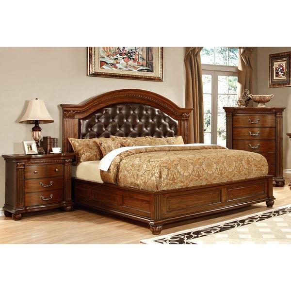 furniture of america vayne ii 3 piece traditional cherry
