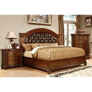 Furniture of America Vayne II 3-Piece Traditional Cherry Bedroom Set