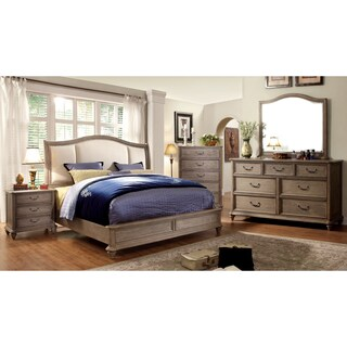 Furniture of America Minka II Rustic Grey 4-Piece Bedroom Set (3 options available)