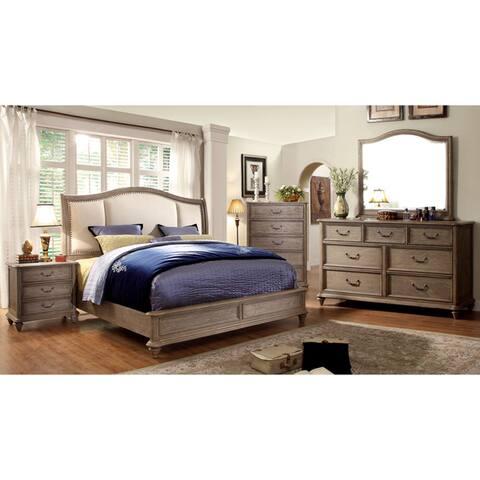 Furniture of America Siko Rustic Brown 4-piece Bedroom Set