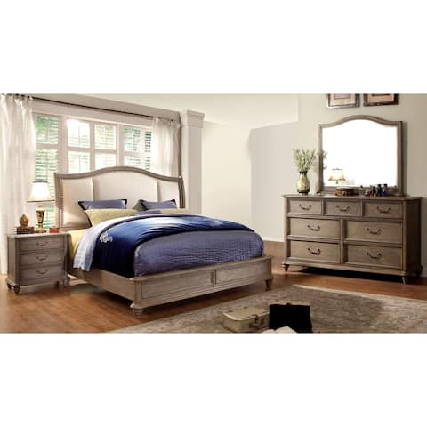 Furniture of America Siko Rustic Brown 4-piece Bedroom Set