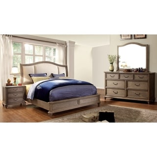 Furniture Of America Minka II Rustic Grey 4 Piece Bedroom Set (Option: King