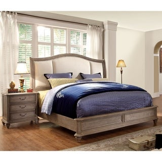 Furniture of America Siko Transitional Brown 2-piece Bedroom Set