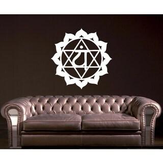 Vinyl Decal Heart Chakra Religion Faith Symbol Om
