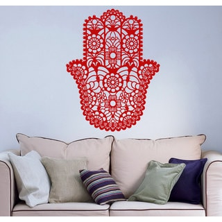 Wall Vinyl Decal Hamsa Hand Fish Eye