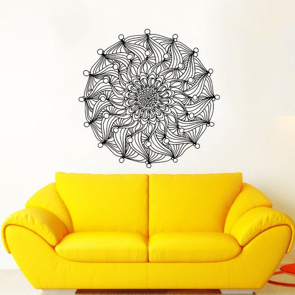 Mandala Wall Decal Namaste Flower