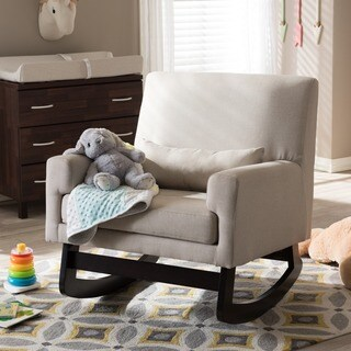 Contemporary Fabric Rocking Chair by Baxton Studio (Option: Beige)