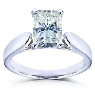 Annello 14k White Gold Radiant-cut Forever Brilliant Moissanite Solitaire Engagement Ring