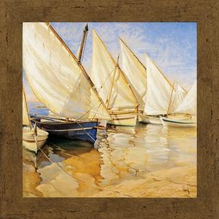 Jaume Laporta-White sails l 34 x 34 Framed Art Print
