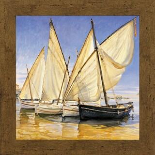 Jaume Laporta-White sails ll 34 x 34 Framed Art Print