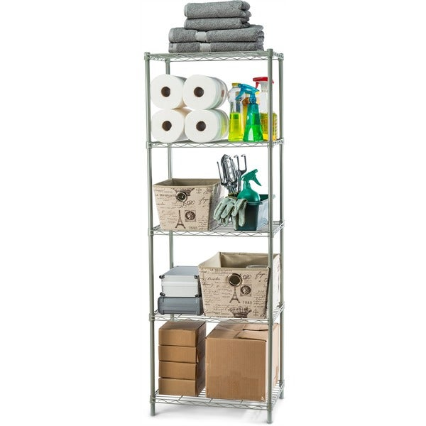 "Sunbeam 61"" High 5-Tier Wire Shelving Storage Unit. Opens flyout."