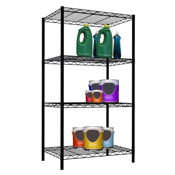 """Home Basics Wire 46.5"""" High Four Shelf Shelving Unit"""