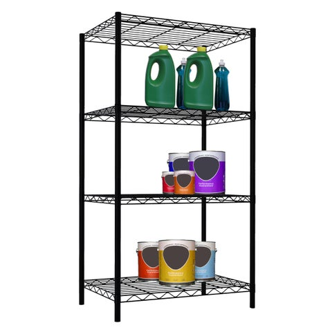"Home Basics Wire 46.5"" High Four Shelf Shelving Unit"