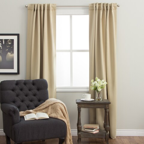 Arlo Blinds Back Tab Blackout Curtains 64 inch height, Panel Pair Total Width: 104 inch