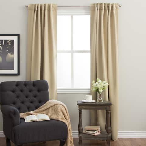 Arlo Blinds Back Tab Blackout Curtains 84 inch height, Panel Pair Total Width: 104 inch