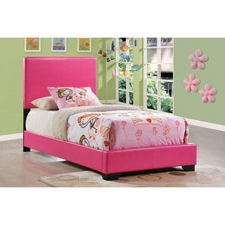 Pink Upholstered Twin Bed