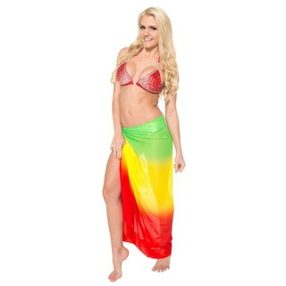 La Leela Bikini Cover up Sarong Beachwear Swimsuit Swimwear Wrap Pareo Bathing SuitYellow