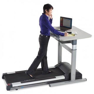 LifeSpan TR5000-DT7 Integrated Treadmill Desk with Electric Desktop Height Adjustment